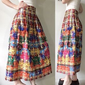 Zara Skirts - Zara Embroidered rainbow Maxi Skirt